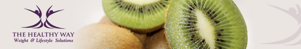 The Healthy Way weight and lifestyle solutions banner with an image of delicious kiwi fruit.